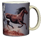 Horse Trio Ceramic Mug - Back
