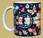 Butterfly Circle Ceramic Mug