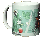Strawberry, Lavender, Thyme Ceramic Mug - Front