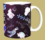 Molecules Ceramic Mug - Back