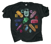 Gem Stones Adult T-shirt