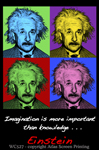 "Imagine Einstein 2"" X 3"" Magnet"