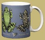 Frog Circle Ceramic Mug - Back