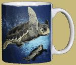 Loggerhead Turtles Ceramic Mug - Back