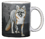 Fox Trax Ceramic Mug - Back
