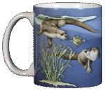 Otter Splash Ceramic Mug