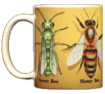 Bee Circle Ceramic Mug