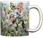 Roadside Flowers Ceramic Mug - Back