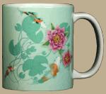 Zen Koi Ceramic Mug - Back