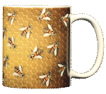 Bee Hive Ceramic Mug - Back