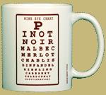 Wine Eye Chart Ceramic Mug - Back