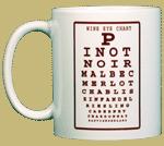 Wine Eye Chart Ceramic Mug - Front