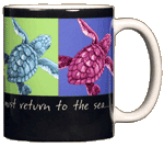 Imagine Sea Turtles Ceramic Mug - Back