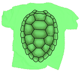 Sea Turtle Shell Youth T-shirt - Back