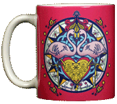Flamingo Hex Ceramic Mug