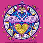 Flamingo Hex Adult T-shirt