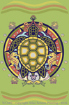 "Sea Turtle Hex 2"" X 3"" Magnet"