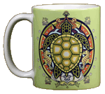 Sea Turtle Hex Ceramic Mug
