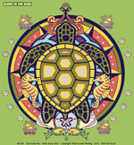 Sea Turtle Hex Adult T-shirt