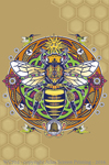 "Honey Bee Hex 2"" X 3"" Magnet"