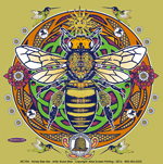 Honey Bee Hex Adult T-shirt