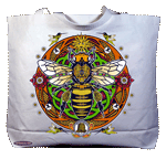 Honey Bee Hex Canvas Tote