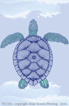 "Green Sea Turtle 2"" X 3"" Magnet"