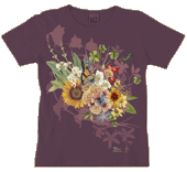 Summer Wildflowers Ladies Scoop-Neck Tee