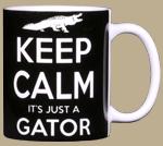Keep Calm Gator Ceramic Mug - Back