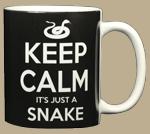 Keep Calm Snake Ceramic Mug - Back