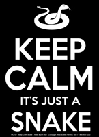Keep Calm Snake Adult T-shirt