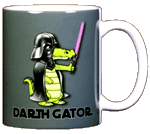 Darth Gator Ceramic Mug - Back