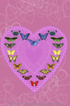 """Butterfly Sweatheart 2"""" X 3"""" Magnet"""