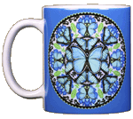 Morpho Butterfly Circle Ceramic Mug
