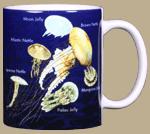 Jellyfish Glow Ceramic Mug - Back