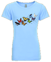 Butterfly Fancy Girls T-shirt