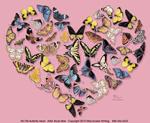 Butterfly Heart Girls T-shirt