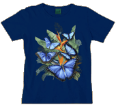 Butterfly Paradise Ladies Scoop Neck Tee