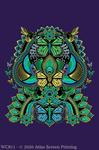 """Symmetric Butterflies 2"""" X 3"""" Magnet"""