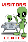 "Alien Visitor Center 2"" X 3"" Magnet"