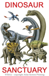 "Dinosaur Sanctuary 2"" X 3"" Magnet"