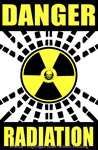 "Danger Radiation Warning 2"" X 3"" Magnet"