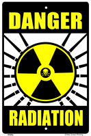 Danger Radiation Warning Sign