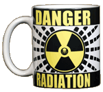 Danger Radiation Warning Ceramic Mug
