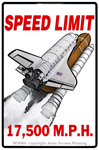 "Speed Limit 17,500 MPH 2"" X 3"" Magnet"