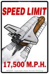 "Speed Limit 17,500 MPH 2"" X 3"" Magnet"
