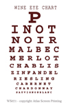 "Wine Eye Chart 2"" X 3"" Magnet"