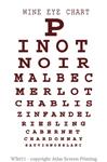 "Wine Eye Chart 2"" X 3"" Magnet"
