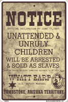 Unruly Children Sign