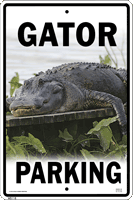 Gator Parking Sign